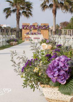 Ceremonia de estilo rústico. Club de Golf Playa Serena