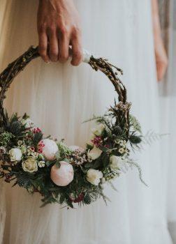 Ramo de novia . Hoop Bouquet