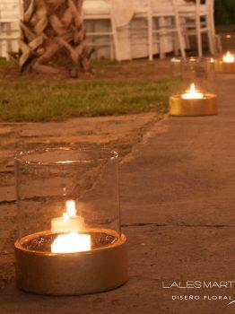 ambientación con velas
