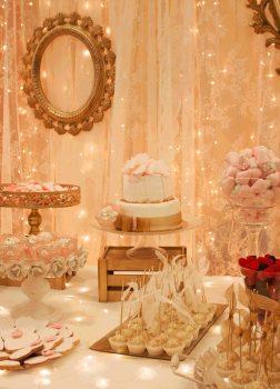 Candy bar de estilo romántico
