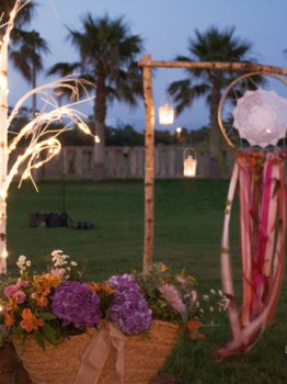 decoración boho. Club de Golf Playa Serena